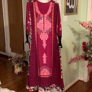 Purple Pakistani gown new outfit Arabian Lace